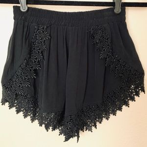 Flowy Lace-lined Shorts